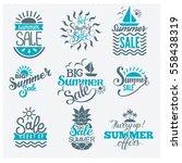 summer sale shopping logo badge ... | Shutterstock .eps vector #558438319
