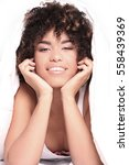 young happy african american... | Shutterstock . vector #558439369