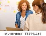 shot of two businesswoman... | Shutterstock . vector #558441169