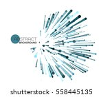 vector abstract explosion lines.... | Shutterstock .eps vector #558445135