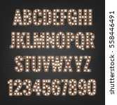font. typeface with light bulbs.... | Shutterstock .eps vector #558446491