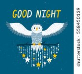 vector night background with... | Shutterstock .eps vector #558450139