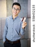 positive young businessman... | Shutterstock . vector #558452155