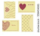 vintage cards and envelopes... | Shutterstock .eps vector #558454081