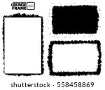 abstract grunge frame set.... | Shutterstock .eps vector #558458869