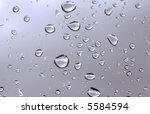 water drops, focus at the bottom - stock photo