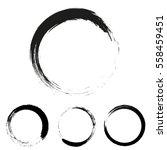 grunge round with brush   Shutterstock .eps vector #558459451