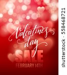 valentines day sale  poster... | Shutterstock .eps vector #558468721