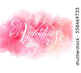 valentines day card with... | Shutterstock .eps vector #558469735
