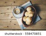 cheese bread  p  o de queijo ... | Shutterstock . vector #558470851