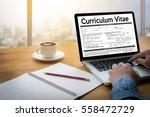 cv   curriculum vitae  job... | Shutterstock . vector #558472729