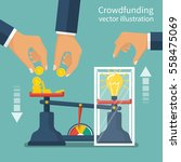 crowdfunding concept. business... | Shutterstock .eps vector #558475069