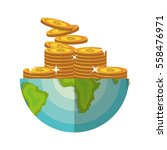 global economy world savings | Shutterstock .eps vector #558476971