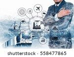 industry 4.0 concept  smart... | Shutterstock . vector #558477865