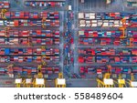 container container ship in... | Shutterstock . vector #558489604