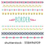 set of colorful hand drawn... | Shutterstock .eps vector #558496939