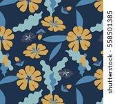 floral vector pattern design