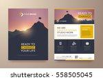 poster flyer pamphlet brochure... | Shutterstock .eps vector #558505045