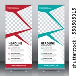 roll up banner template design  ... | Shutterstock .eps vector #558505315