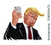 donald trump and social media... | Shutterstock .eps vector #558505471