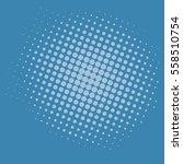 pop art blue dots comic... | Shutterstock .eps vector #558510754