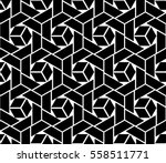 abstract geometric pattern with ... | Shutterstock .eps vector #558511771