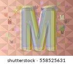alphabet m texture idea   Shutterstock .eps vector #558525631