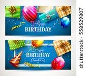 vector set of two luxury... | Shutterstock .eps vector #558529807
