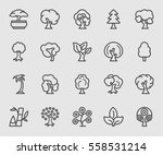 tree line icon | Shutterstock .eps vector #558531214