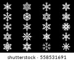 snowflake vector icon... | Shutterstock .eps vector #558531691