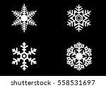 snowflake vector icon... | Shutterstock .eps vector #558531697