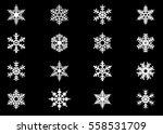 snowflake vector icon... | Shutterstock .eps vector #558531709