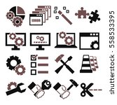 alter  modify  fix icon set | Shutterstock .eps vector #558533395