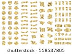 gold ribbon banner label vector ... | Shutterstock .eps vector #558537805
