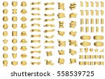gold ribbon banner label vector ... | Shutterstock .eps vector #558539725