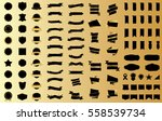 ribbon banner label gold vector ... | Shutterstock .eps vector #558539734