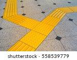 sidewalk guides for blind.... | Shutterstock . vector #558539779