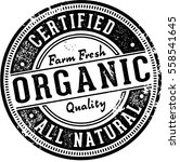 certified organic food product... | Shutterstock .eps vector #558541645