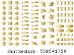 gold banner ribbon label vector ... | Shutterstock .eps vector #558541759