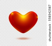 valentine's day red heart... | Shutterstock .eps vector #558542587