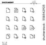 document flat icon set....   Shutterstock .eps vector #558542935