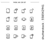 phone flat icon set. collection ... | Shutterstock .eps vector #558542941