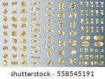 gold banner ribbon label vector ... | Shutterstock .eps vector #558545191