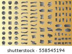 silver banner ribbon label... | Shutterstock .eps vector #558545194