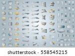 silver banner ribbon label... | Shutterstock .eps vector #558545215
