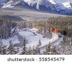 Banff  Alberta   Jan 15  Train...