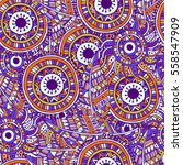 pattern of dream catcher and... | Shutterstock .eps vector #558547909