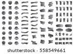 label ribbon banner silver... | Shutterstock .eps vector #558549661