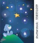 the adventures of little bear.... | Shutterstock .eps vector #558551059