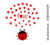 red round lady bug insect with... | Shutterstock .eps vector #558554509